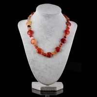 oblate shape abacus shape beads form delicate necklace natural semi precious stone choker necklace for unisex jewelry gift 45cm