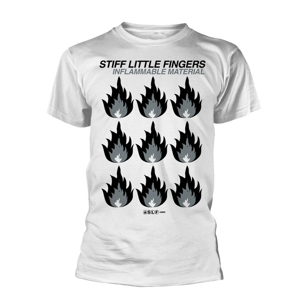 TIFF dedos pequeños Material inflamable Slf blanco camiseta oficial Merch