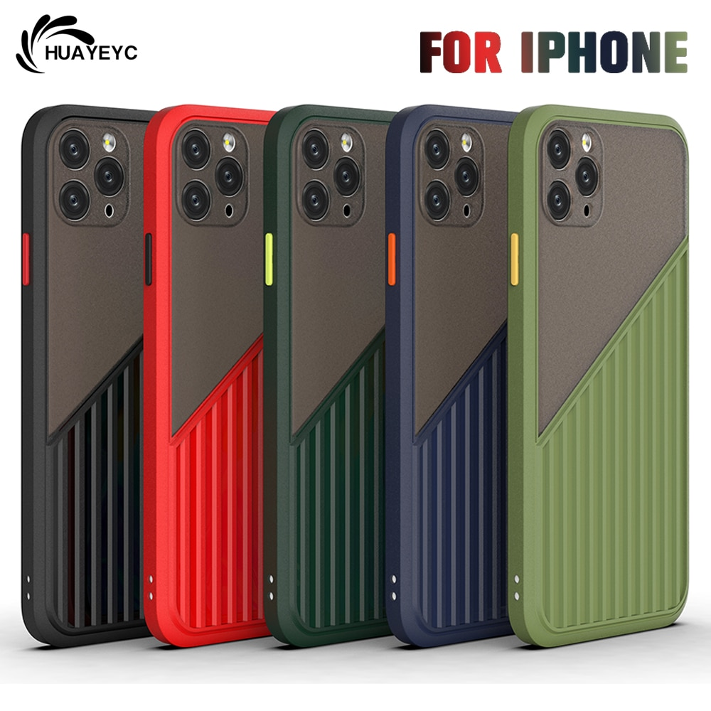 Original Shockproof Phone Case For Apple iPhone 11 12 Pro Max Mini 7 8 6 6S Plus XR X XS MAX Silicon