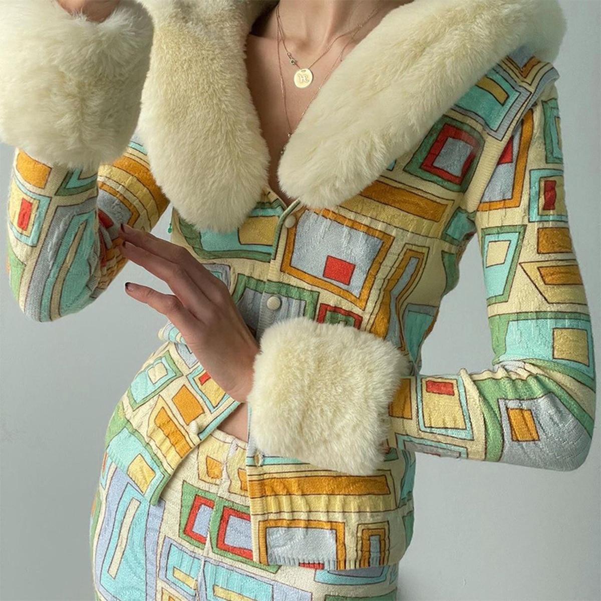 Модная осенне-зимняя флисовая куртка, пушистая теплая укороченная однобортная верхняя одежда, женская верхняя одежда с лацканами, Лидер пр...