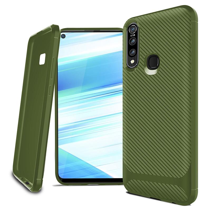 Para Vivo IQOO V17 NEO V15 X27 Z1 Z1X Z5i Z5X Y17 Y19 Pro funda de lujo de fibra de carbono funda de teléfono a prueba de golpes Ultra ajuste