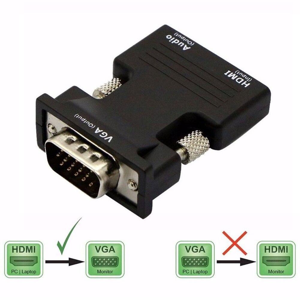 HD 1080P, совместимому с HDMI к VGA адаптер цифро аналоговые аудио и видео конвертер кабель для портативных ПК ТВ коробка проектор