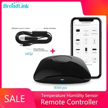 BroadLink RM4 Pro Version Wireless Universal Remote Hub with HTS2 Temp and Humidity Sensor Smart Home Solution