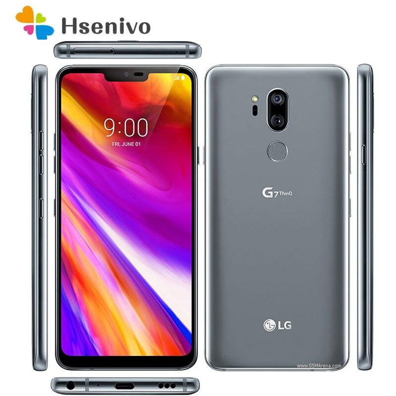 LG G7 ThinQ Восстановленный-оригинальный G710N G710VM 64 Гб/128 Гб 4G Snapdragon 845 LTE Android Восьмиядерный тыловая Камера Двойная 16 МП 6,1 дюйм телефон
