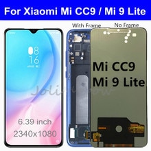 6.39 ''TFT LCD ل شاومي mi CC9 LCD عرض تعمل باللمس محول الأرقام mi9 لايت الجمعية ل شاومي Mi 9 لايت lcd استبدال