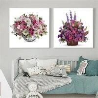 Affiche de Bouquets de roses  toile de peinture murale imprimee  lys  orchidee  chrysanthemes  decoration de maison  cadre dart