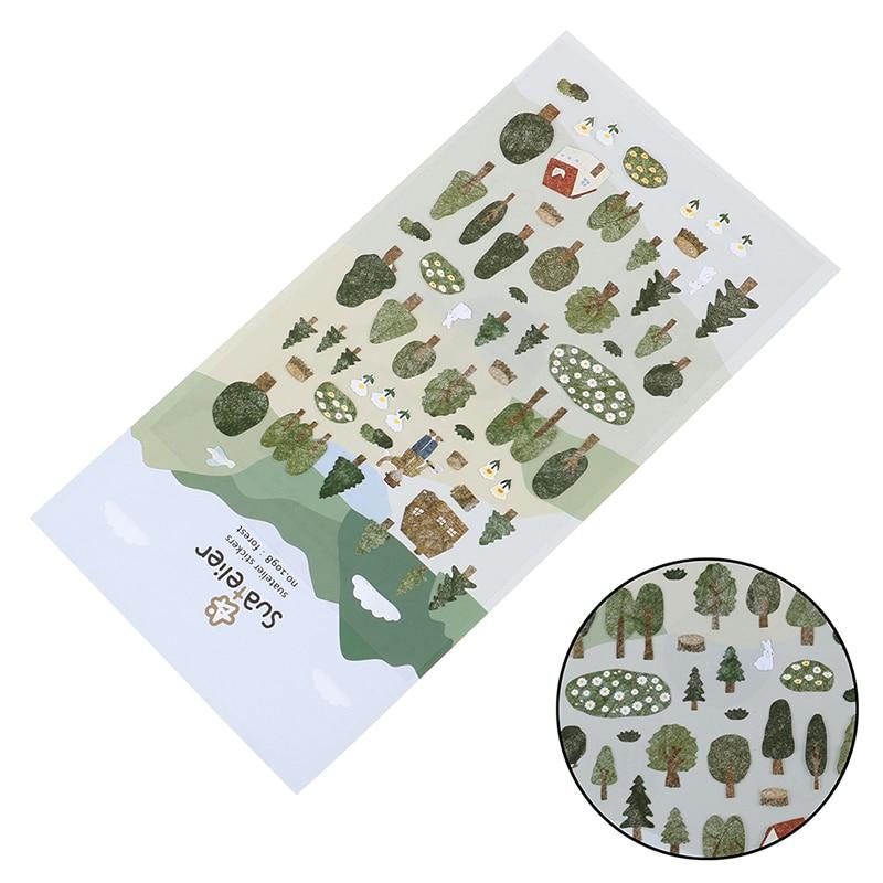 Forest Green Bullet diario pegatina decorativa álbum diario etiqueta pegatina para álbum de recortes DIY papelería pegatinas escolares