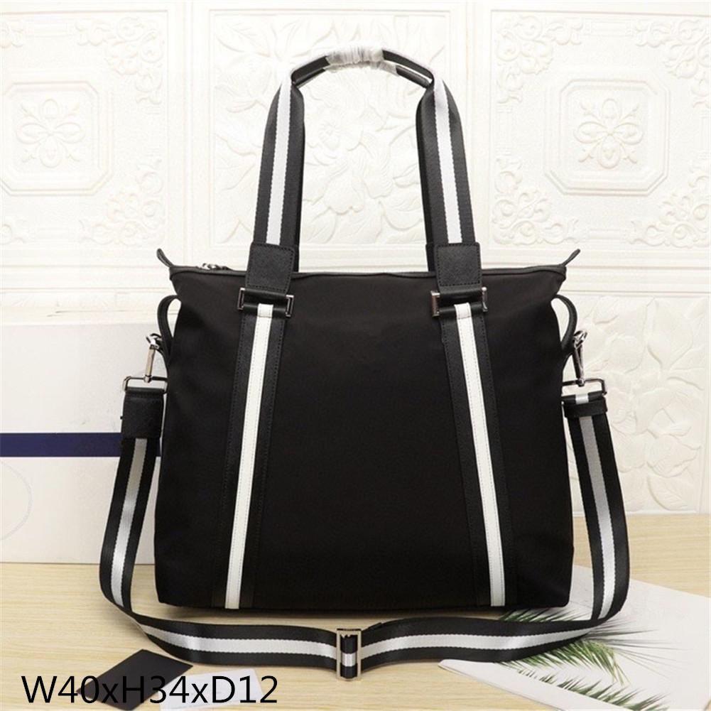 2021 Men's black leather designer briefcase high quality laptop bag large capacity retro fashion office handbag