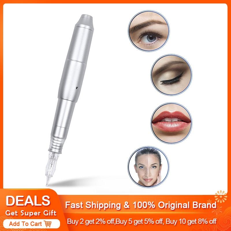 Hot New Professiona CQ003 Switch Permanent Makeup Machine Pen with Needles Eyebrow Lip Pen 3D Microblade Tatto Gun Set