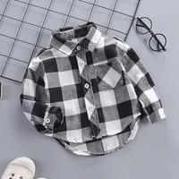 diimuu springautumn fashion kids baby boys cotton shirt child boy plaid shirts clothing children casual tops clothing