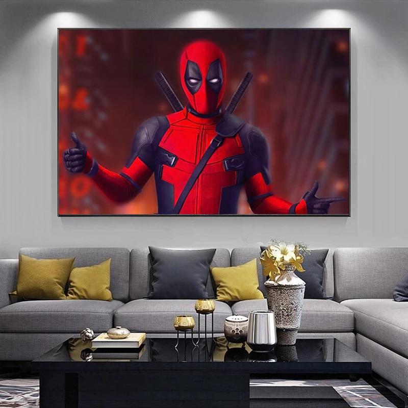 pelicula-clasica-de-marvel-superheroe-deadpool-pintura-en-lienzo-carteles-e-impresiones-arte-de-pared-imagen-para-sala-de-estar-decoracion-del-hogar-cuadros