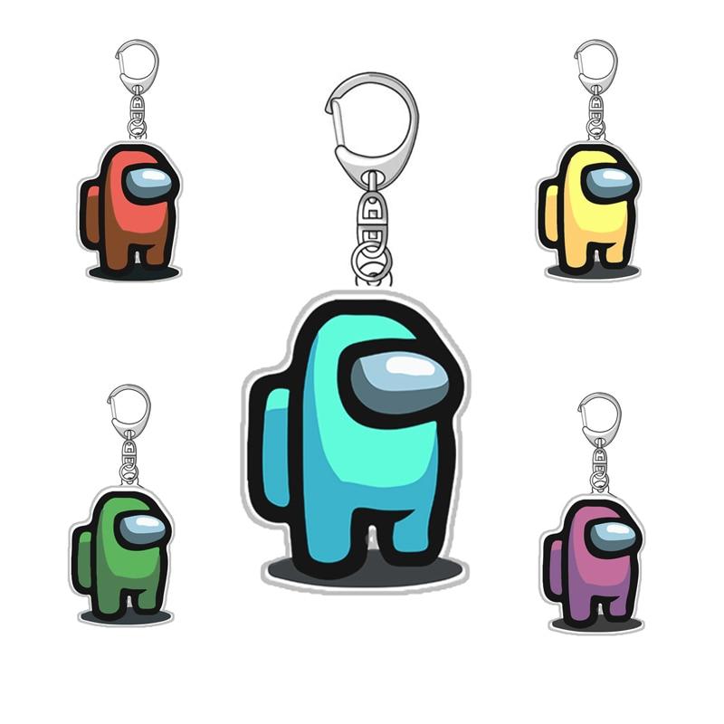 1vnt tarp mūsų raktų pakabukai akrilo spalvingi raktų pakabukai raktams