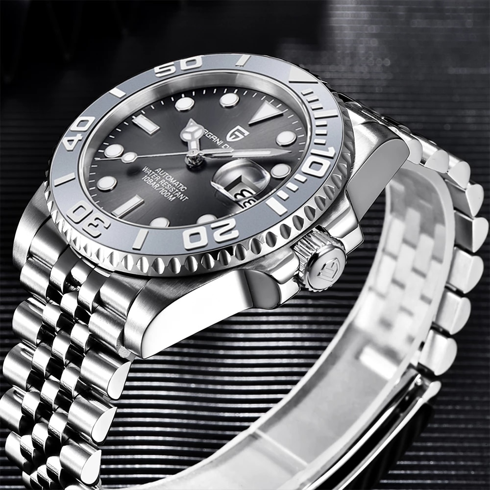 PAGANI تصميم 40 مللي متر الرياضة الرجال الميكانيكية ساعة العلامة التجارية العليا NH35A الياقوت الساعة الزجاجية الفولاذ المقاوم للصدأ مقاوم للماء ...
