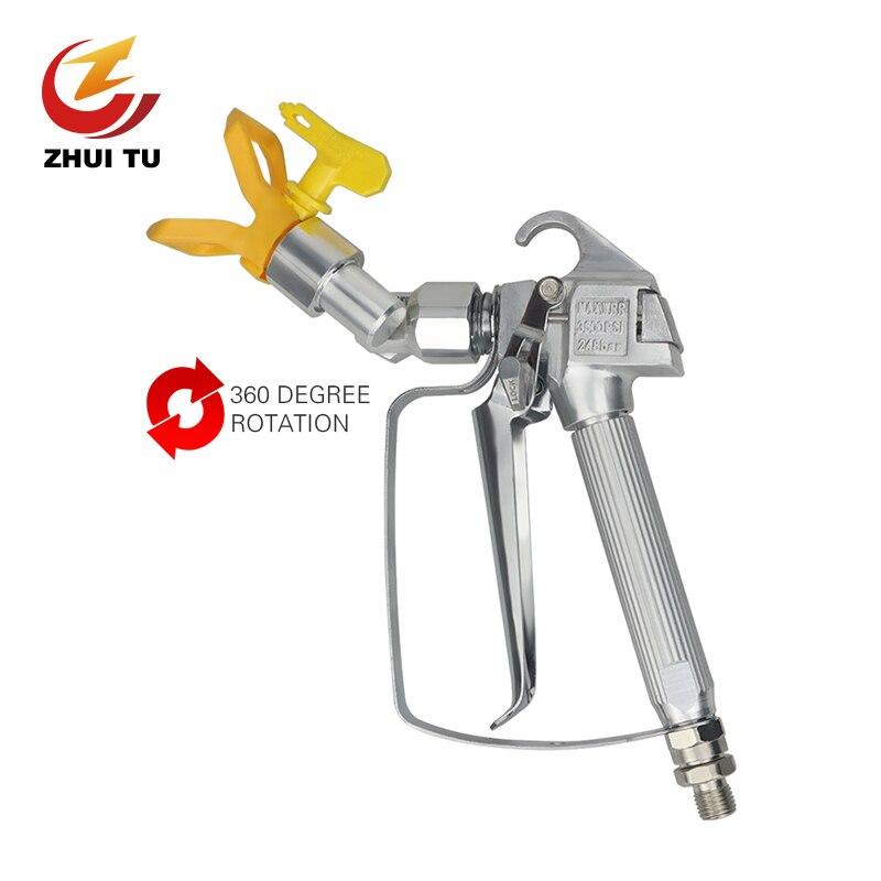 Ventilado de Alta Pressão do Pulverizador Apropriado para Titan Bocal Wagner Pistola Ventilada Rotação Universal Tinta Látex Putty Mal