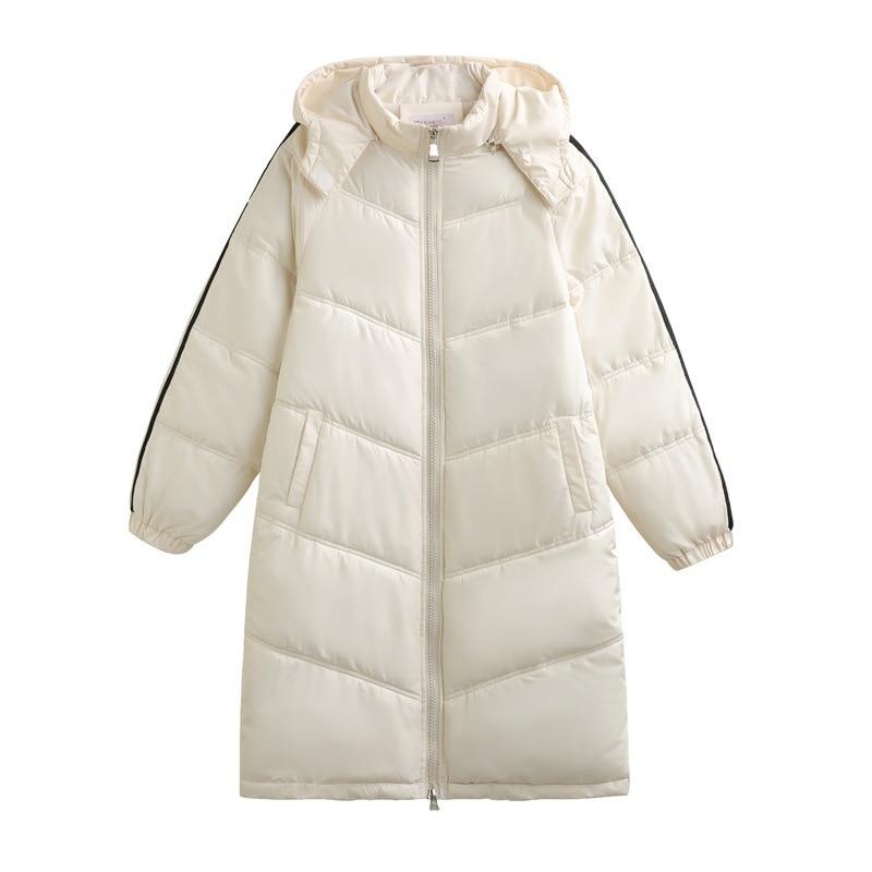 Зимние новые женские длинные парки с капюшоном, утепленные теплые куртки, зимние повседневные пальто, верхняя одежда на молнии с подкладкой...