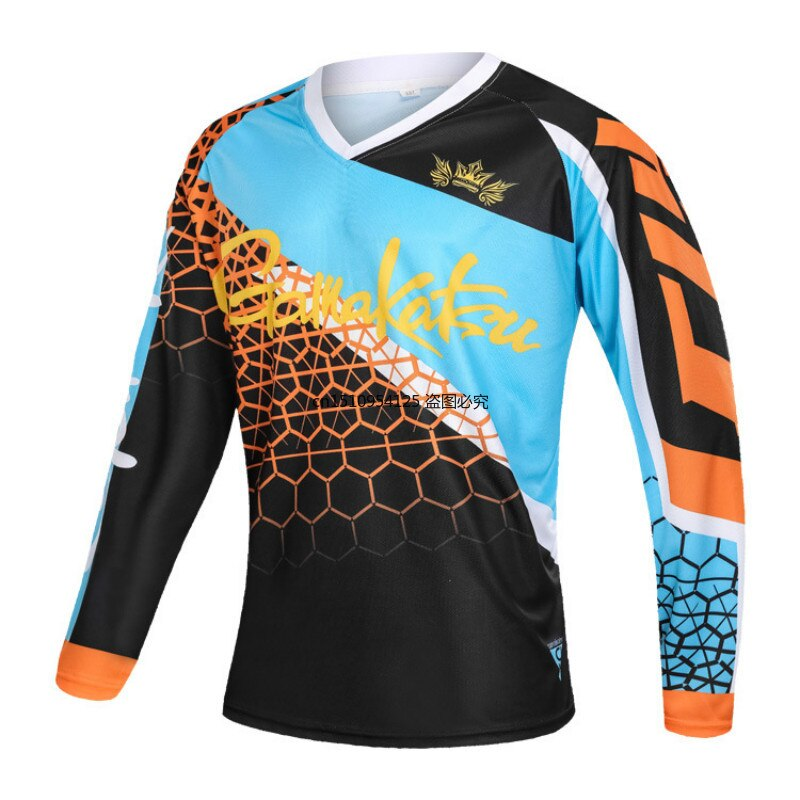 Мужская одежда для рыбалки Gamakatsu, Влагоотводящая дышащая футболка с длинным рукавом для рыбалки, спортивная одежда для велоспорта, рыбалки, ...