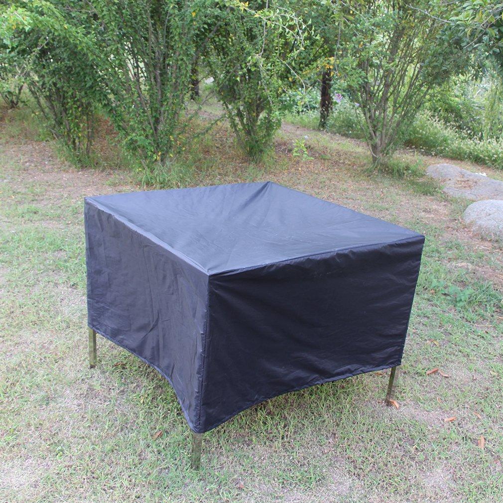 Черный 210D тканый полиэстер (Оксфорд) Сад прямоугольная уличная мебель крышка