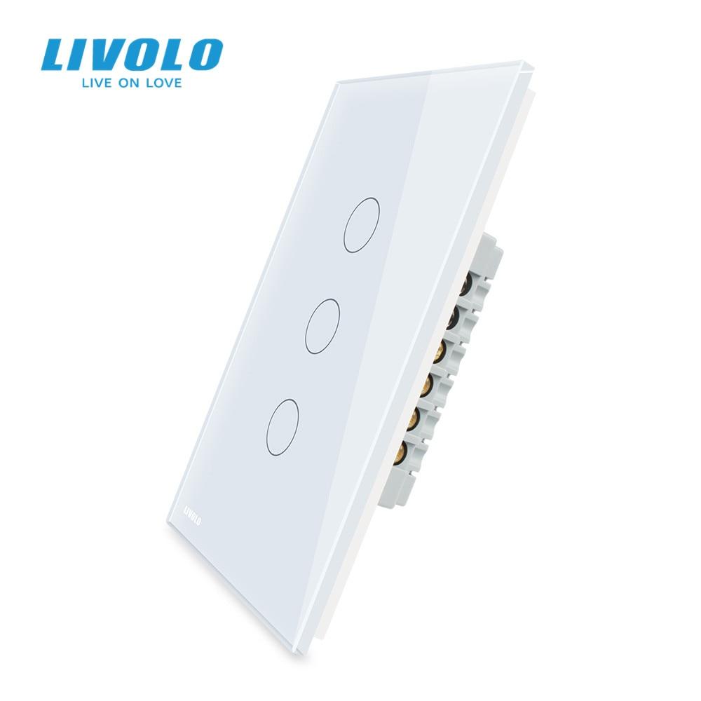 livolo padrao dos eua c5 parede vertical interruptor de luz da tela de toque controle