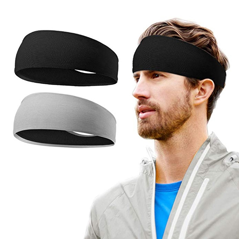 Men Sweatband Sports Headband Stretch Elastic Women Yoga Running hair band for men  Outdoor Sport He