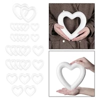 foam hearts hollow styrofoam shapes wreath crafts ball love shaped can be coloured with paint to diy create many designs
