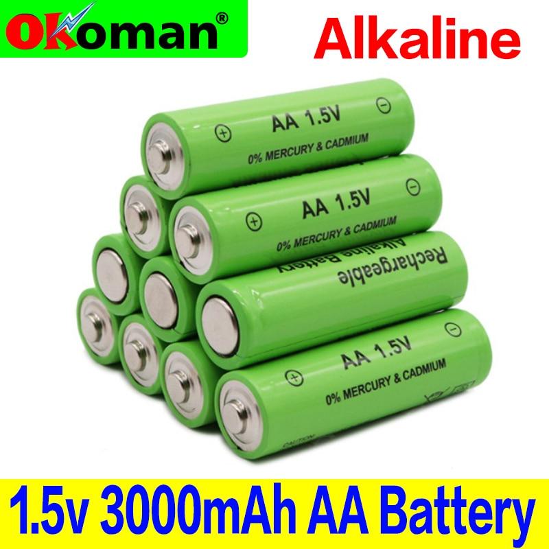 Новый бренд AA Аккумуляторная Батарея 3000mah 1,5 V Новая Щелочная аккумуляторная батарея для светодиодных игрушек mp3 Бесплатная доставка