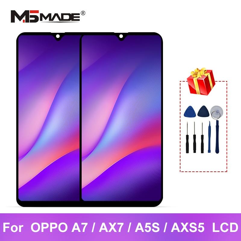 """6,2 """"para OPPO A7 LCD AX7 pantalla Digitalizador de pantalla táctil piezas de repuesto para OPPO A5S pantalla AX5S LCD"""