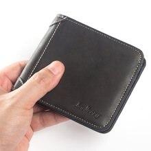 Cartera de cuero de la PU de los hombres Vintage dinero monedero tarjetas de nombre titular de la licencia marrón/Negro/azul marino SER88