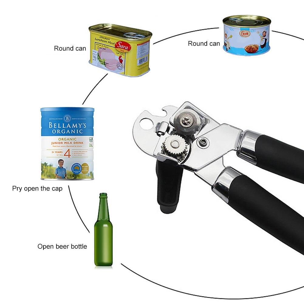 Accesorio de cocina práctico abrelatas Manual profesional ergonómico corte lateral herramientas de apertura potentes abrebotellas Bar Gadget