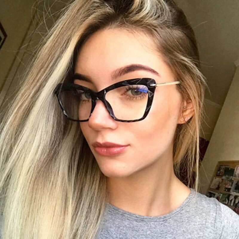 2020 New Transparent glasses Fashion Women Cat Eye Eyeglasses Frame  Optical Glasse Retro Computer Glasses