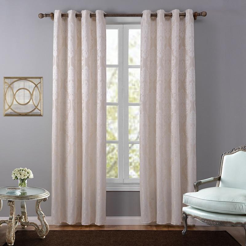 European style jacquard design home decoration modern curtain tulle fabrics organza sheer panel window treatment white