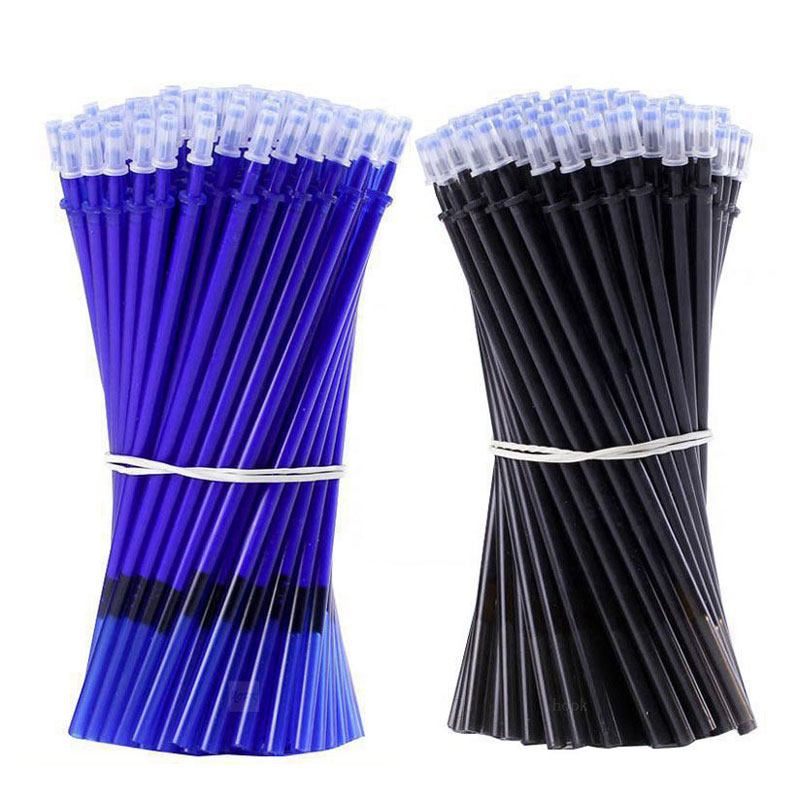 AliExpress - 2000 Pcs/set 0.7mm Bullet Erasable Washable Refill Rod 0.5mm Needle tip Blue/Black Gel Pen Refills School Office Supplies