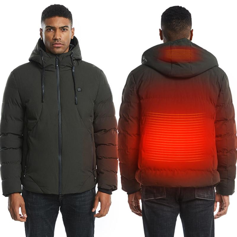 Mens Women Heated Jackets Vest Down Cotton Outdoor Coat USB Electric Heating...