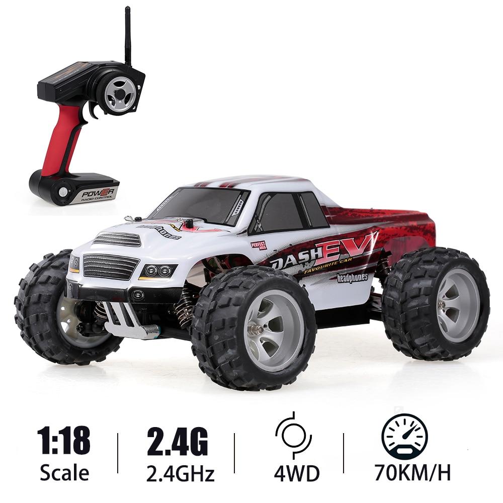 WLtoys A979-B 1/18 Racing Car 2.4GHz 4WD RC Car 70KM/h High Speed High Quality Big Foot Truck RC Crawler Electric RTR Gift Toys
