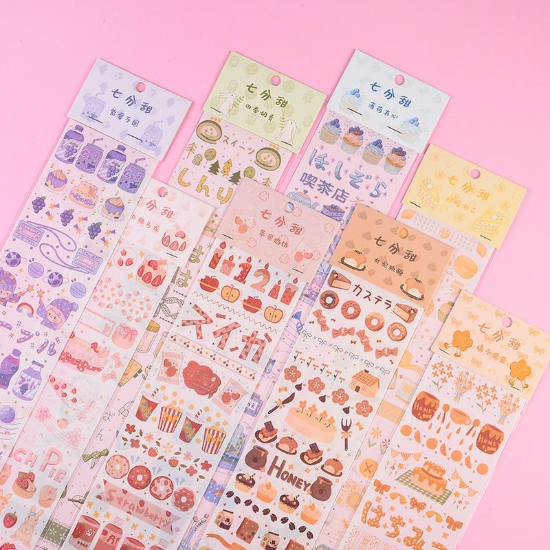 16 bolsas/lote serie Seventh cents sweet decoración creativa DIY embalaje cinta adhesiva washi