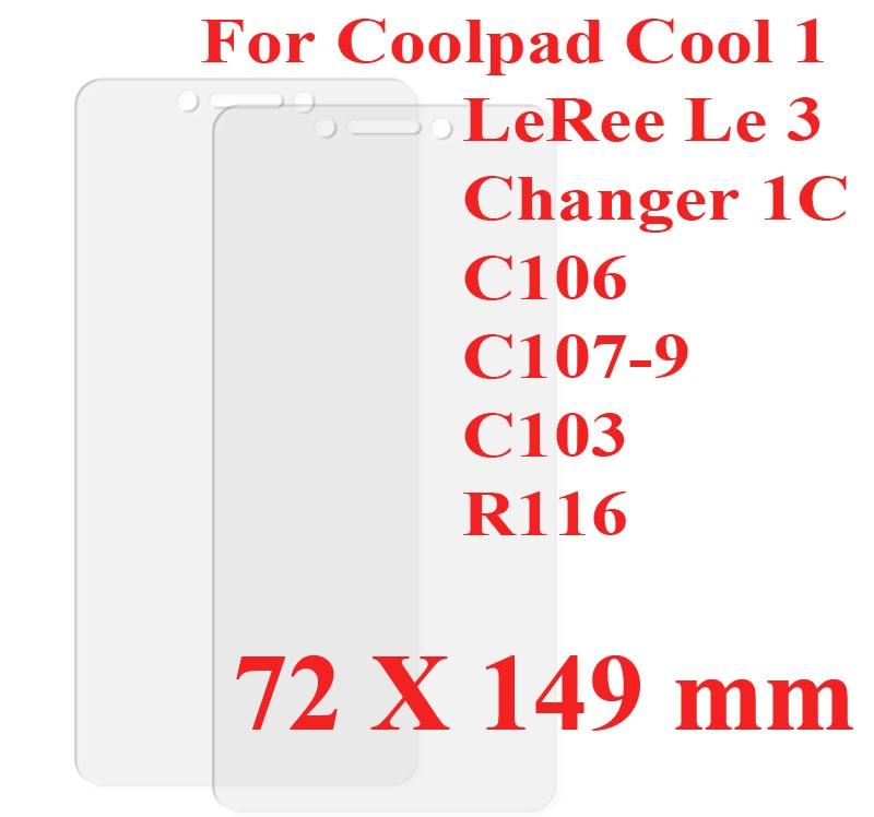 LeRee Le 3 vidrio para LeEco Coolpad Cool1 Dual C106 protector de pantalla de película de vidrio templado para LeTV Coolpad Cool 1 cambiador 1C vidrio