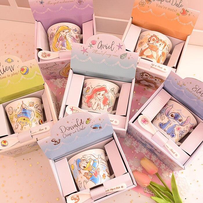 Стежок 626 маленькая Русалочка Ариэль Рапунцель Принцесса чип N' Дейл чипманк керамическая кружка кофейная кружка подарок на день рождения с коробкой