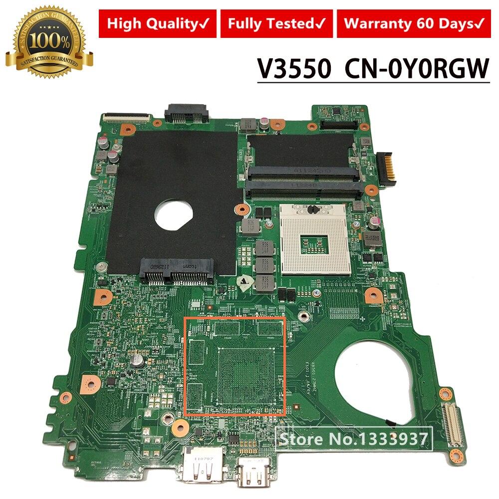 CN-0Y0RGW 0Y0RGW Y0RGW اللوحة الرئيسية لديل Vostro 3550 V3550 اللوحة المحمول DDR3 HM67