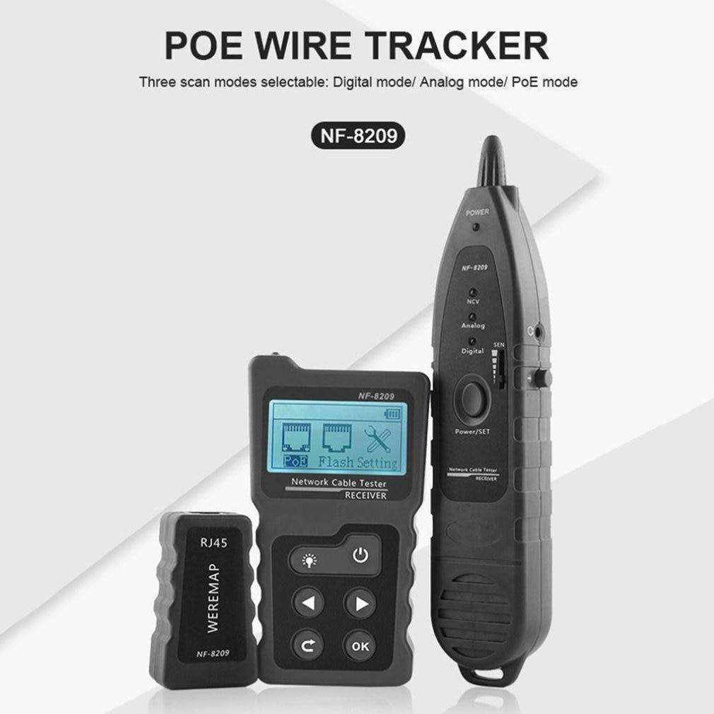 Localizador de línea Digital de NF-8209, pantalla LCD, medidor de longitud, Cable...