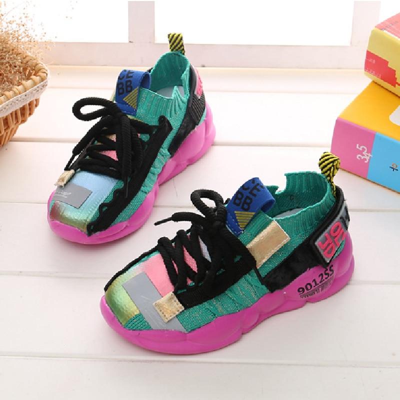 Кроссовки детские для мальчиков и девочек, повседневная разноцветная спортивная обувь для бега, 26 37 Кроссовки    АлиЭкспресс