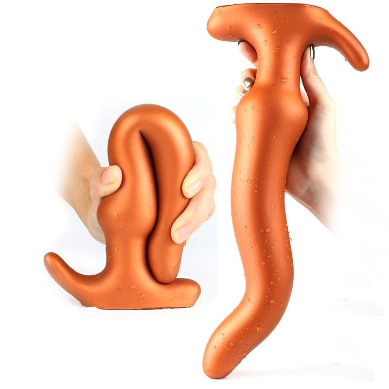 Super Large Butt Plug Seaweed Anal Plug Prostate Massage Anus Dilator Vagina Masturbation Anal Sex Toys For Women Male Gay