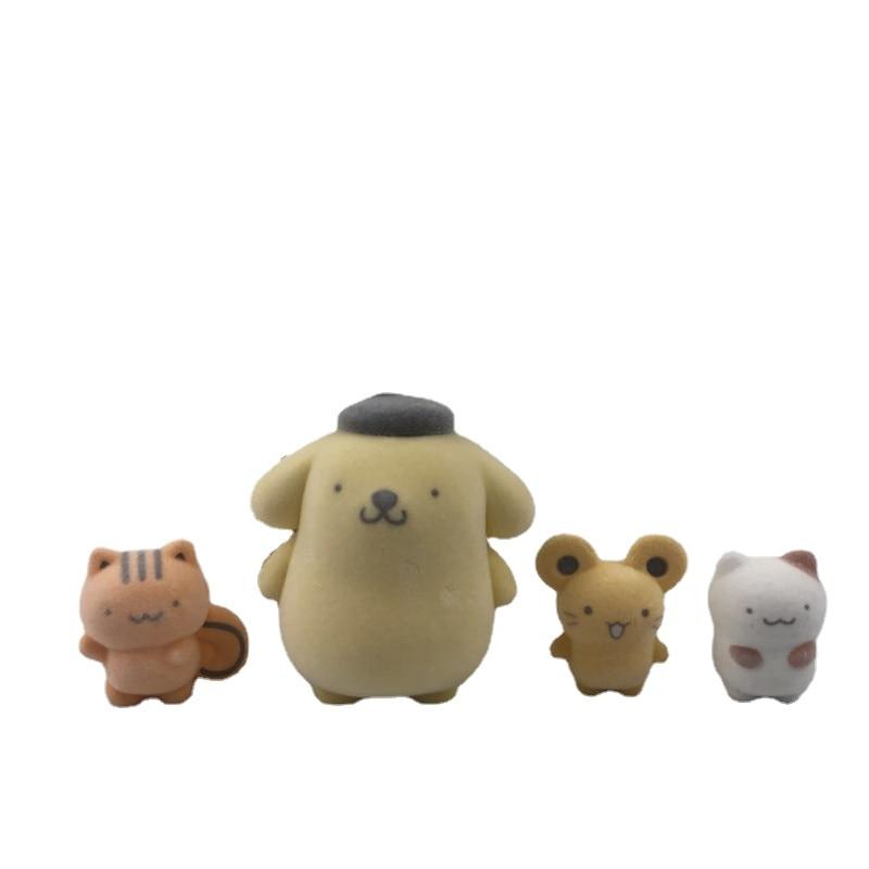 Мультяшные аниме Purins собака экшн-фигурки Флокирование внешний вид TwinStars Аниме фигурки девочки кавайные пушистые Фигурки игрушки украшение