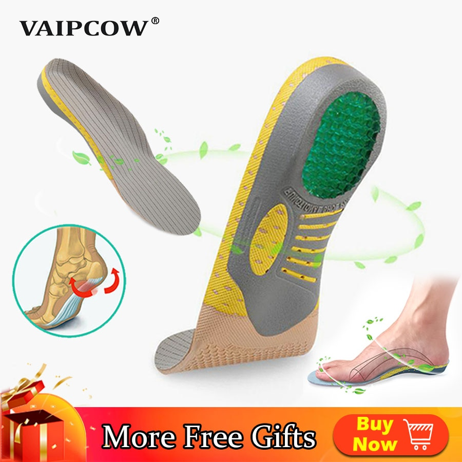 VAIPCOW PVC Orthopedic Insoles EVA Orthotics flat foot Health Sole Pad for Shoes insert Arch Support