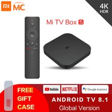 Orijinal Global Xiaomi Mi TV kutusu S 4K Ultra HD Android TV 8.1 HDR 2G 8G WiFi google Cast Netflix akıllı TV Mi kutusu 4 medya oynatıcı