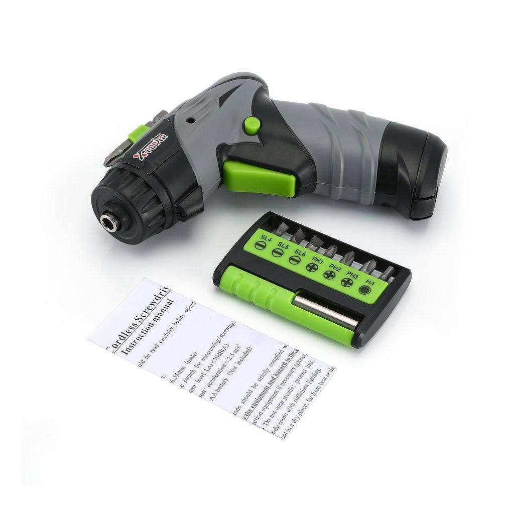 X-power Электрический Аккумуляторный шуруповерт с сухим аккумулятором, набор мини отверток, дрель, аппаратный инструмент, бытовые инструменты DIY