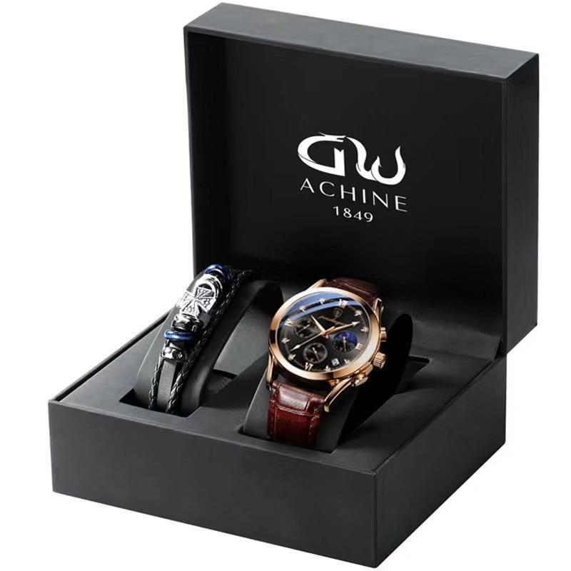 POEDAGAR 2021 Men's Sport Watches Top Brand Luxury Fashion Leather Casual Waterproof Luminous Quartz