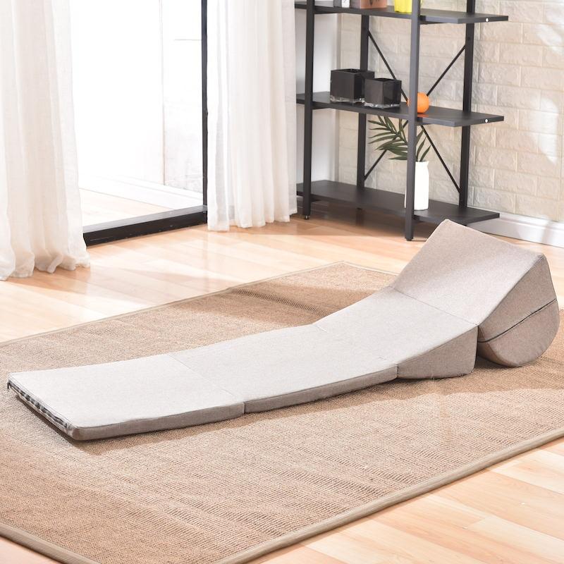 Sofá plegable ajustable, sofá tipo Diván, salón para sala de estar, dormitorio, tela plegable, sofá tumbona, silla, muebles