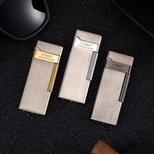 Pure Copper Cigar Lighter Flashlight Cigarette Lighter Refillable Butane Lighter Wheel Ignition Port