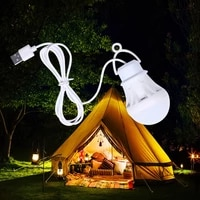 portable usb bulb power bank lamp camping tent travel work light 5w high powerful mini lantern fishing outdoor activities supply