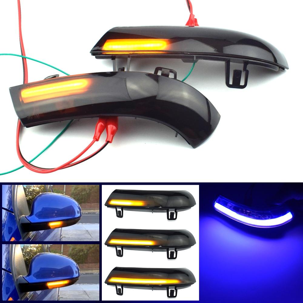 Luz intermitente LED azul dinámica intermitente para VW GOLF 5 GTI Jetta MK5 Passat B5.5 B6 Sharan