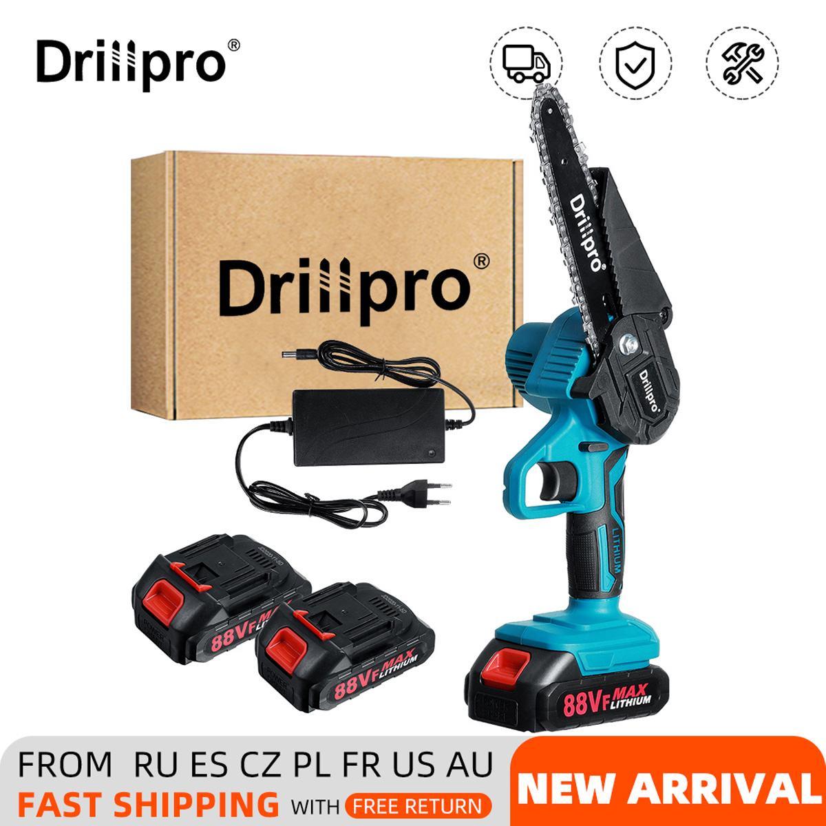 Drillpro 6 بوصة منشار كهربائي لاسلكي تشذيب المنشار حديقة شجرة تسجيل التشذيب المنشار أدوات كهربائية لبطارية Makiita 18 فولت